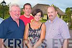 Teddy O'Sullivan, Tim O'Sullivan, Kathleen O'Sullivan and Colin Miller pictured enjoying the Fossa Rowing Club steak night in the Old Killarney Inn, Aghadoe on Saturday night......