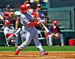 13 March 2009: St. Louis Cardinals' infielder Khalil Greene in action during a Spring Training game against the Baltimore Orioles at Fort Lauderdale Stadium in Fort Lauderdale, Florida. The Cardinals defeated the Orioles 6-5 in the Grapefruit League matchup. Mandatory Photo Credit: Ed Wolfstein Photo