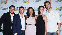 "WESTWOOD, LOS ANGELES, CA, USA - JUNE 21: Hector Bustamante, George Valencia, Judy Reyes, Roselyn Sanchez, Eric Winter at the Los Angeles Premiere Of ""La Golda"" held at The Crest on June 21, 2014 in Westwood, Los Angeles, California, United States. (Photo by David Acosta/Celebrity Monitor)"