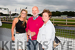 Niamh O'Mahony, Jim O'Mahony and Laura O'Mahony from Ballybeggan enjoying THE 'Friends Of Kerry General Hospital Benefit Night at the Kingdom Greyhound stadium on Friday