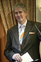 9-2-06, Netherlands, tennis, Amsterdam, Daviscup.Netherlands Russia, Draw, Communication and Marketing Manager Caspar van Duuren