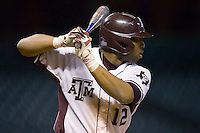 Kyle Colligan #12 of the Texas A&M Aggies at bat versus the Houston Cougars in the 2009 Houston College Classic at Minute Maid Park March 1, 2009 in Houston, TX.  The Aggies defeated the Cougars 5-3. (Photo by Brian Westerholt / Four Seam Images)