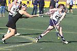 Santa Barbara, CA 02/18/12 - Jessica Dresser (UC Davis #21) and Caroline Freyschlag (Colorado State #9) in action during the UC Davis - Colorado State game at the 2012 Santa Barbara Shootout.  Colorado State defeated UC Davis 10-9.