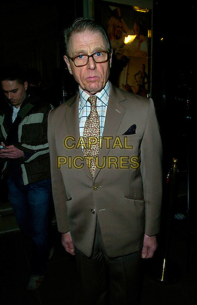 "EDWARD FOX.The ""Treats"" press night, Garrick Theatre, London, UK..March 8th, 2007.half length beige suit jacket glasses.CAP/CAN.©Can Nguyen/Capital Pictures"