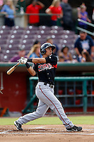 Jace Peterson #6 of the Lake Elsinore Storm bats against the Inland Empire 66'ers at San Manuel Stadium on June 23, 2013 in San Bernardino, California. Lake Elsinore defeated Inland Empire, 6-2. (Larry Goren/Four Seam Images)