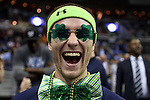 10 March 2016: A member of the Notre Dame band. The University of Notre Dame Fighting Irish played the Duke University Blue Devils at the Verizon Center in Washington, DC in the Atlantic Coast Conference Men's Basketball Tournament quarterfinal and a 2015-16 NCAA Division I Men's Basketball game. Notre Dame won the game 84-79 in overtime.