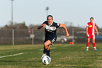 Forward Lisa De Vanna (11) of Sky Blue FC. Sky Blue FC defeated the Western New York Flash 1-0 during a National Women's Soccer League (NWSL) match at Yurcak Field in Piscataway, NJ, on April 14, 2013.