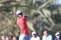 Rafa Cabrera Bello (ESP) on the 14th tee during the 3rd round of the Abu Dhabi HSBC Championship, Abu Dhabi Golf Club, Abu Dhabi,  United Arab Emirates. 18/01/2020<br /> Picture: Fran Caffrey | Golffile<br /> <br /> <br /> All photo usage must carry mandatory copyright credit (© Golffile | Fran Caffrey)