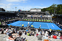 General view of centre court during the ASB Classic WTA Women's Tournament Day 7 Singles Final. ASB Tennis Centre, Auckland, New Zealand. Sunday 7 January 2018. ©Copyright Photo: Chris Symes / www.photosport.nz