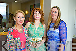 Pictured at the Ladies Lunch & Fashion afternoon on Sunday last held in Ballyroe Heights Hotel in aid of the Recovery Haven Tralee were l-r: Sandra Palmer (Tralee) Rosa O'Shea (Kenmare) and Angela O'Sullivan (Tralee).