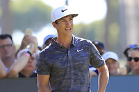 Thorbjorn Olesen (DEN) on the 1st tee during Thursday's Round 1 of the 2018 Turkish Airlines Open hosted by Regnum Carya Golf &amp; Spa Resort, Antalya, Turkey. 1st November 2018.<br /> Picture: Eoin Clarke | Golffile<br /> <br /> <br /> All photos usage must carry mandatory copyright credit (&copy; Golffile | Eoin Clarke)
