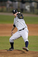 Staten Island Yankees pitcher Robert Paullus #58 during game one of the NY-Penn League Championship Series against the Auburn Doubledays at Falcon Park on September 12, 2011 in Auburn, New York.  Staten Island defeated Auburn 9-2.  (Mike Janes/Four Seam Images)