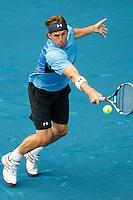 MADRI, ESPANHA, 07 DE MAIO DE 2012 - MUTUA MADRID OPEN - O tenista Igor Andreev  (azul) enfrenta Juan Carlos Ferrero  (branco), durante o Mutua Madrid Open 2012, em Madrid na capital da Espanha, nesta segunda-feira, 06. (FOTO: CESAR CEBOLLA / ALFAQUI / BRAZIL PHOTO PRESS).
