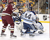 Brian Boyle, Travis Ramsey, Bret Tyler, Ben Bishop - The Boston College Eagles defeated the University of Maine Black Bears 4-1 in the Hockey East Semi-Final at the TD Banknorth Garden on Friday, March 17, 2006.