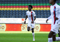 20191022 – OOSTENDE , BELGIUM : PSG's Maxen Kapo pictured during a soccer game between Club Brugge KV and Paris Saint-Germain ( PSG )  on the third matchday of the UEFA Youth League – Champions League season 2019-2020 , thuesday  22 th October 2019 at the Versluys Arena in Oostende  , Belgium  .  PHOTO SPORTPIX.BE   DAVID CATRY