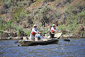 Fishermen & Women floating the Upper Colorado River fishing between Rancho Del Rio and State Bridge on July 15, 2014.