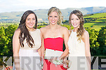 BALL: Having a ball at the ISK debs at the Ballyroe Heights hotel on Thursday l-r: Mary Noonan, Clodagh Woods and Hannah Cronin...