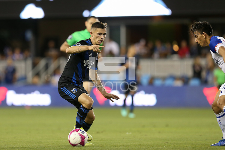 San Jose, CA - Saturday October 13, 2018: Paul Marie during a friendly match between the San Jose Earthquakes and Cruz Azul at Avaya Stadium.
