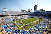 Overall view during a NFL football game at Bank of America Stadium in Charlotte, NC.