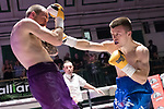 Liam Dillon vs Harvey Hemsley 4x3 - Lightweight Contest During Goodwin Boxing - Date With Destiny. Photo by: Simon Downing.<br /> <br /> Saturday September 23rd 2017 - York Hall, Bethnal Green, London, United Kingdom.