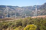 Wind turbines near Lanjaron, Alpujarra area, Granada province, Spain
