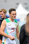 The Hague, Netherlands, June 03: Rhett Halkett #14 of South Africa looks on before the field hockey group match (Men - Group B) between South Africa and the Black Sticks of New Zealand on June 3, 2014 during the World Cup 2014 at GreenFields Stadium in The Hague, Netherlands. Final score 0:5 (0:3) (Photo by Dirk Markgraf / www.265-images.com) *** Local caption ***