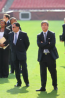 USA Bid Committee for the 2018 or 2022 FIFA World Cup from left to right Danny Jordan (CEO of 2010 FIFA World Cup Organizing Committee) Harold Mayne-Nicholls (Head of FIFA Inspection)  at FedEx Field, Wednesday  September 8, 2010.