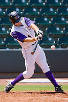 Jon Gilmore #5 of the Winston-Salem Dash takes his swings against the Lynchburg Hillcats at  BB&T Ballpark July 11, 2010, in Winston-Salem, North Carolina.  Photo by Brian Westerholt / Four Seam Images