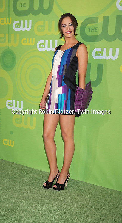 """Leighton Meester of """"Gossip Girl"""" in Chloe dress..posing for photographers at The CW Upfront Announcement of their 2008-2009 Fall Season on May 13, 2008 at Lincoln Center.....Robin Platzer, Twin Images"""