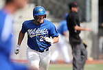 Western Nevada Wildcat's Spenser Dorsey runs down the first base line after hitting a single in a college baseball game against Colorado Northwestern in Carson City, Nev., on Sunday, March 10, 2013. WNC swept the weekend series 4-0. .Photo by Cathleen Allison/Nevada Photo Source