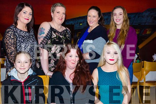 Having a girls night out for a late Women's Christmas in Restaurant Uno.  Seated l-r, Lauren Curran, Michelle Sinnott and Emer Forde. Back l-r, Liz Forde, Louise Daley Harrington, Lucy and Katlyn Curran.