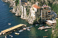 A fishing village near Amalfi.