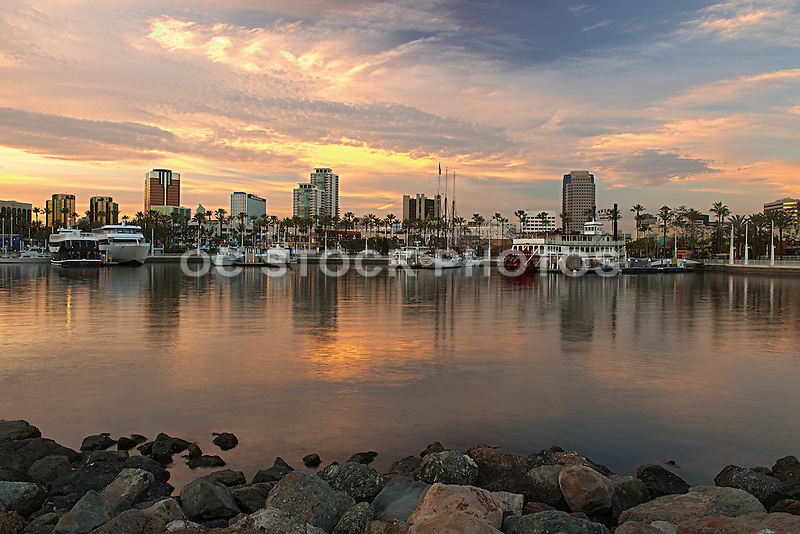 Long Beach Harbor at Sunset