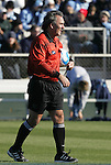 07 December 2008: Match referee George Vergara. The University of North Carolina Tar Heels defeated the Notre Dame Fighting Irish 2-1 at WakeMed Soccer Park in Cary, NC in the championship game of the 2008 NCAA Division I Women's College Cup.