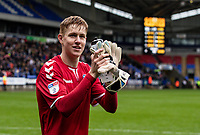 Bolton Wanderers' Matthew Alexander applauds the crowd at the end of the match<br /> <br /> Photographer Andrew Kearns/CameraSport<br /> <br /> The EFL Sky Bet Championship - Bolton Wanderers v Coventry City - Saturday 10th August 2019 - University of Bolton Stadium - Bolton<br /> <br /> World Copyright © 2019 CameraSport. All rights reserved. 43 Linden Ave. Countesthorpe. Leicester. England. LE8 5PG - Tel: +44 (0) 116 277 4147 - admin@camerasport.com - www.camerasport.com