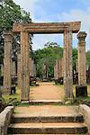 Atadage building in the Quadrangle, UNESCO World Heritage Site, the ancient city of Polonnaruwa, Sri Lanka, Asia