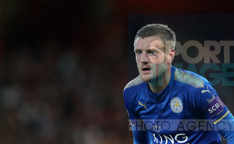 Leicester's Jamie Vardy in action during the premier league match at the Emirates Stadium, London. Picture date 11th August 2017. Picture credit should read: David Klein/Sportimage