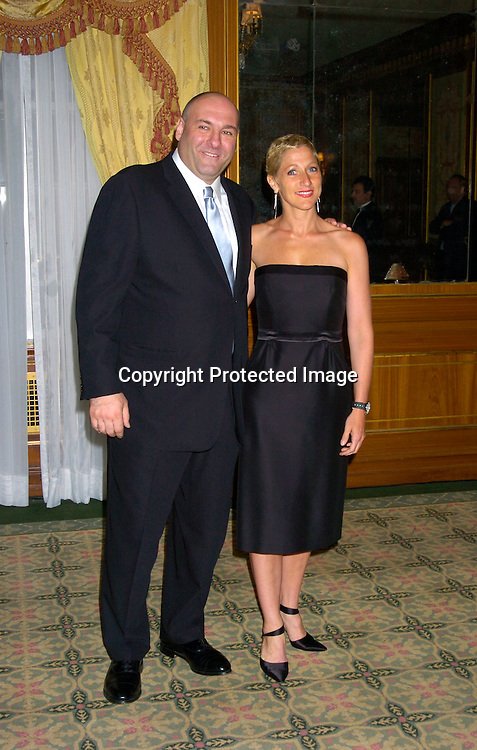 James Gandolfini and Edie Falco ..at The Forget-Me-Not Gala Benefiting the Alzheimer's ..Association, NYC Chapter on June 2, 2004 at the ..Pierre Hotel. ..Photo by Robin Platzer, Twin Images