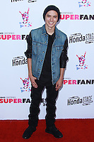SANTA MONICA, CA, USA - OCTOBER 08: Cole Plante arrives at the Vevo CERTIFIED SuperFanFest held at Barkar Hangar on October 8, 2014 in Santa Monica, California, United States. (Photo by David Acosta/Celebrity Monitor)