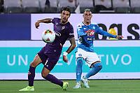 Lorenzo Venuti of Fiorentina and Jose Maria Callejon of Napoli compete for the ball<br /> Firenze 24-8-2019 Stadio Artemio Franchi <br /> Football Serie A 2019/2020 <br /> ACF Fiorentina - SSC Napoli <br /> Photo Cesare Purini / Insidefoto