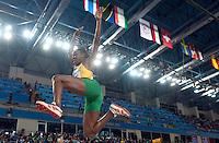 iSTAMBUL, TURQUIA, 09 DE MARCO 2012 - MUNDIAL DE ATLETISMO INDOOR - <br /> Kimberly Williams  atleta da Jamaica compete durante a classificacao para mulheres no salto triplo no Mundial de Atlestismo Indoor na Arena Atakoy em Istambul na Turquia, nesta sexta-feira, 09 marco. (FOTO: BERND THISSEN / BRAZIL PHOTO PRESS).