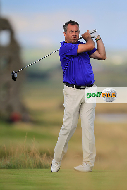 Pat Murray (Limerick) on the 13th tee during the South of Ireland Amateur Open Championship Second Round at Lahinch Golf Club  28th July 2013 <br /> Picture:  Thos Caffrey / www.golffile.ie