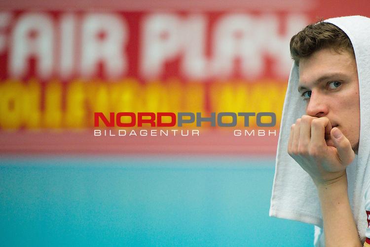05.06.2015, Sporthalle Berg Halle, Muenster<br /> Volleyball, LŠnderspiel / Laenderspiel, Deutschland vs. Slowakei<br /> <br /> Lukas Kampa (#11 GER)<br /> <br />   Foto &copy; nordphoto / Kurth
