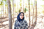 For a Brian Knowlton FF story on Muslim women in the US..USA, Peachtree City, GA. 11, NOVEMBER, 2010. Soumaya Khalifa, who created the Islamic Speakers Bureau based in Atlanta, Georgia poses for a portrait outside of her home in Peachtree City, Georgia... //// KENDRICK BRINSON/LUCEO for the International Herald Tribune