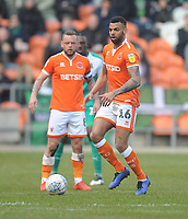 Blackpool's Curtis Tilt<br /> <br /> Photographer Kevin Barnes/CameraSport<br /> <br /> The EFL Sky Bet League One - Blackpool v Plymouth Argyle - Saturday 30th March 2019 - Bloomfield Road - Blackpool<br /> <br /> World Copyright © 2019 CameraSport. All rights reserved. 43 Linden Ave. Countesthorpe. Leicester. England. LE8 5PG - Tel: +44 (0) 116 277 4147 - admin@camerasport.com - www.camerasport.com