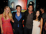 LOS ANGELES, CA - OCTOBER 18: Leven Rambin, Jonny Weston, Gerard Butler and Abigail Spencer arrive at the 'Chasing Mavericks' - Los Angeles Premiere at Pacific Theaters at the Grove on October 18, 2012 in Los Angeles, California.