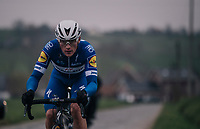 Yves Lampaert (BEL/Quick Step Floors) leading the race (together with teammate Niki Terpstra) up the Stationsberg cobbles<br /> <br /> 61th E3 Harelbeke (1.UWT)<br /> Harelbeke - Harelbeke (206km)
