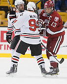 Steve Silva (Northeastern - 17), Tyler McNeely (Northeastern - 94), Michael Del Mauro (Harvard - 13) - The Northeastern University Huskies defeated the Harvard University Crimson 4-0 in their Beanpot opener on Monday, February 7, 2011, at TD Garden in Boston, Massachusetts.