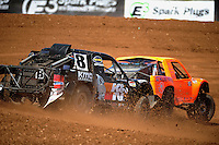 Apr 15, 2011; Surprise, AZ USA; LOORRS driver Kent Brascho (8) follows Adrian Cenni (11) during round 3 and 4 at Speedworld Off Road Park. Mandatory Credit: Mark J. Rebilas-.