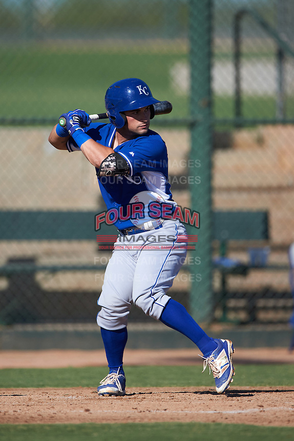 Kansas City Royals Nick Dini (27) during an instructional league game against the San Francisco Giants on October 23, 2015 at the Papago Baseball Facility in Phoenix, Arizona.  (Mike Janes/Four Seam Images)